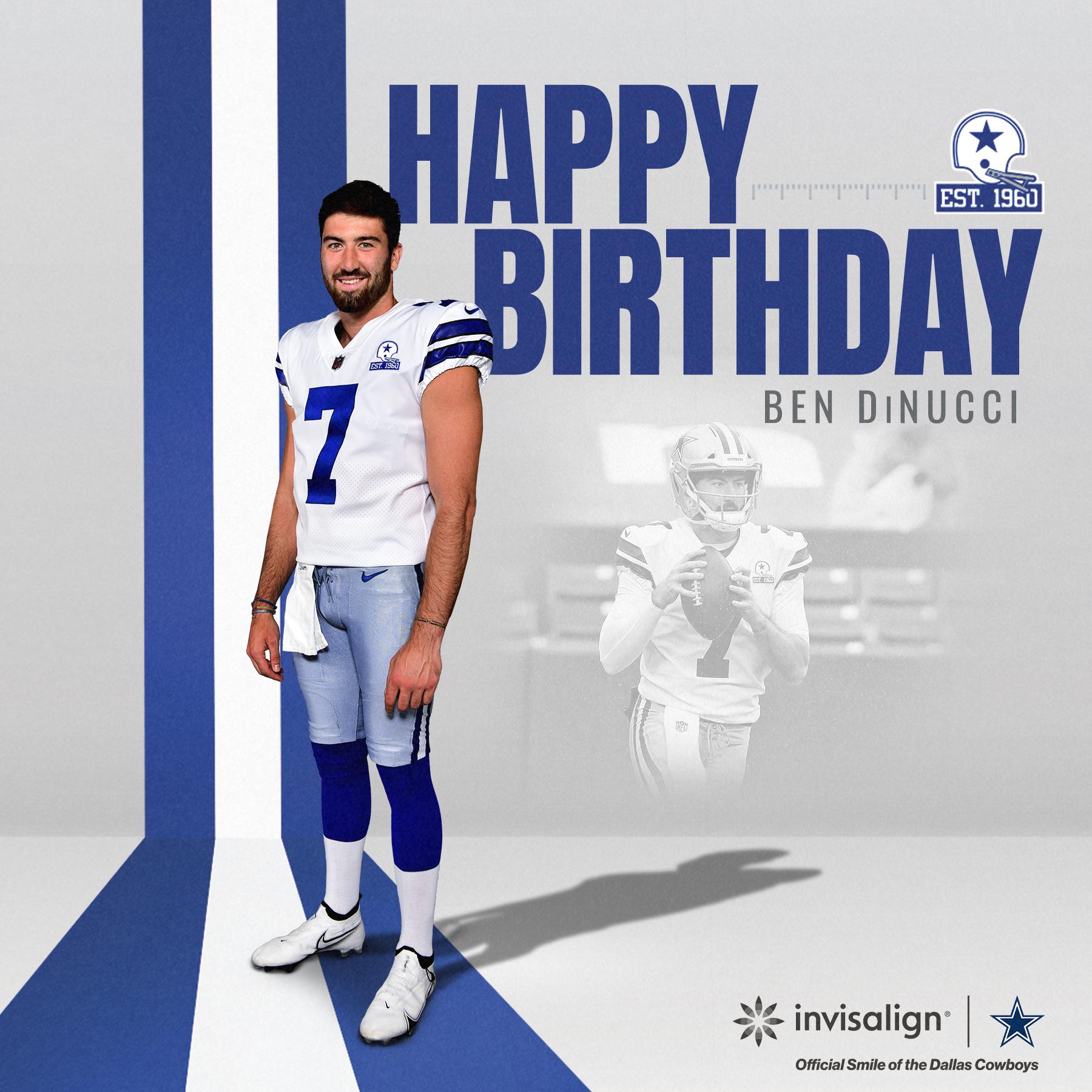Dallas Cowboys On Twitter Happy Birthday Dallascowboys B Dinucci6