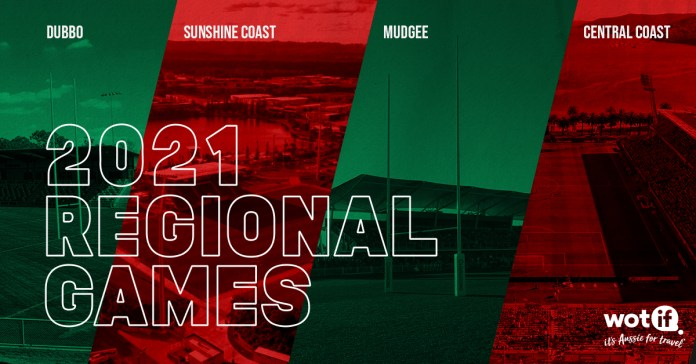 Mudgee, Dubbo... plus ✅ Gosford ✅ Sunshine Coast  Souths confirm four regional trips in 2021  📝 https://t.co/PsD76iUEwU   #NRL #GoRabbitohs