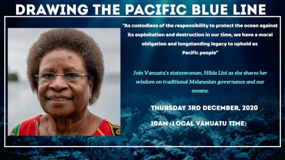 Join #Vanuatu stateswoman, Hilda Lini as she shares her wisdom on traditional #Melanesian governance and our oceans.   Thursday 3rd December, 2020.…