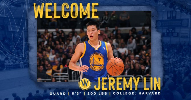 The Santa Cruz Warriors have added Jeremy Lin to the 2020-21 roster 🔥 #SeaDubs  Welcome @JLin7!  👋