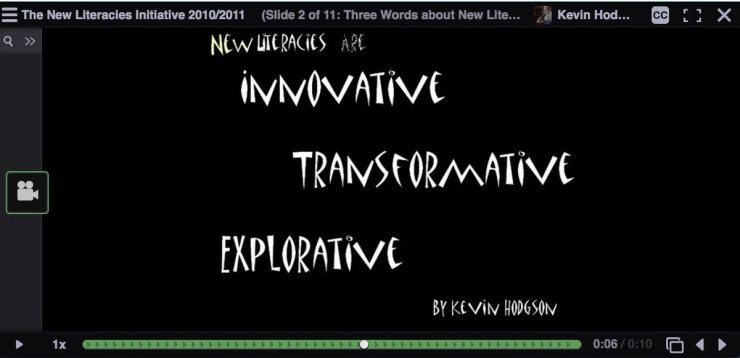New Literacies … defined (2010)