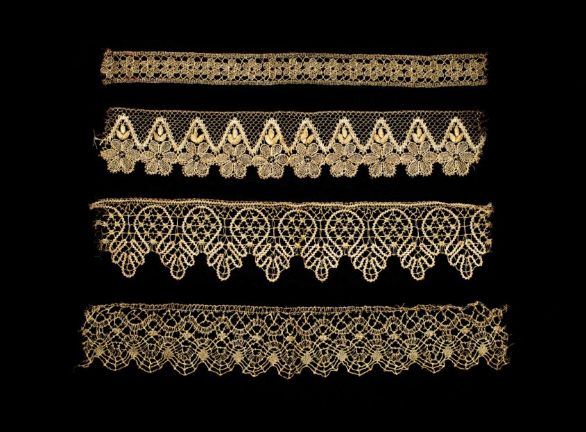 Metallic gold lace edgings - Edgings  late 1800s–early 1900s