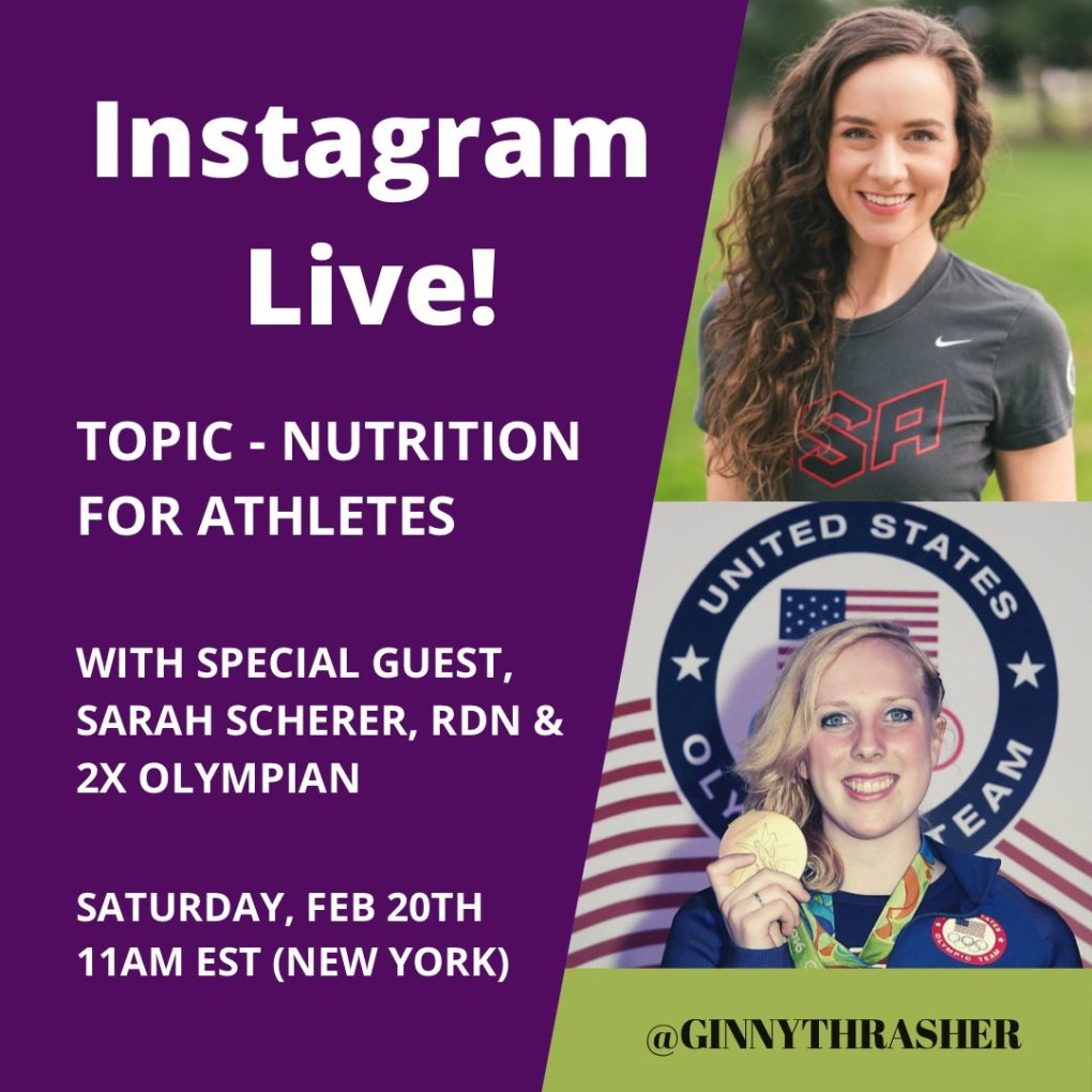 test Twitter Media - Head over to Instagram Live next Saturday Feb 20th at 11am EST to catch up with @sarahschereroly and I about nutrition for ANY athlete 🤗👩🏼🍳 put it on the calendar and SHARE with the athletes in your life 🥰 #teamthrasher https://t.co/PbwXmHE6qI