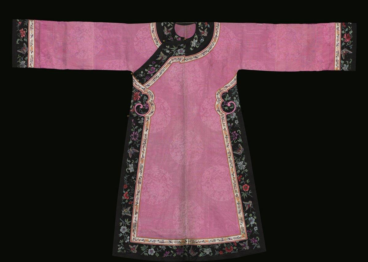 Damask on gauze -- Sotheby's -- Summer Gauze Robe, Late Qing Dynasty
