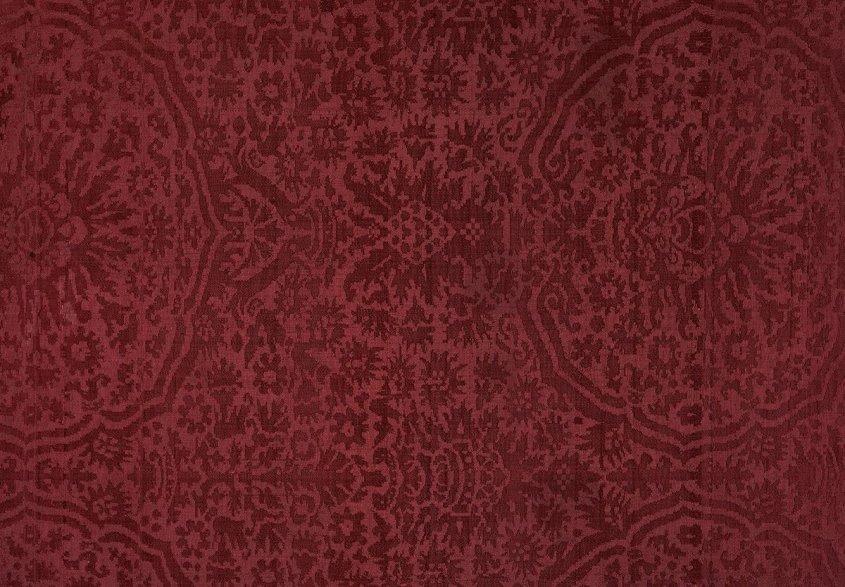 Italian pomegranate motif, red damask.