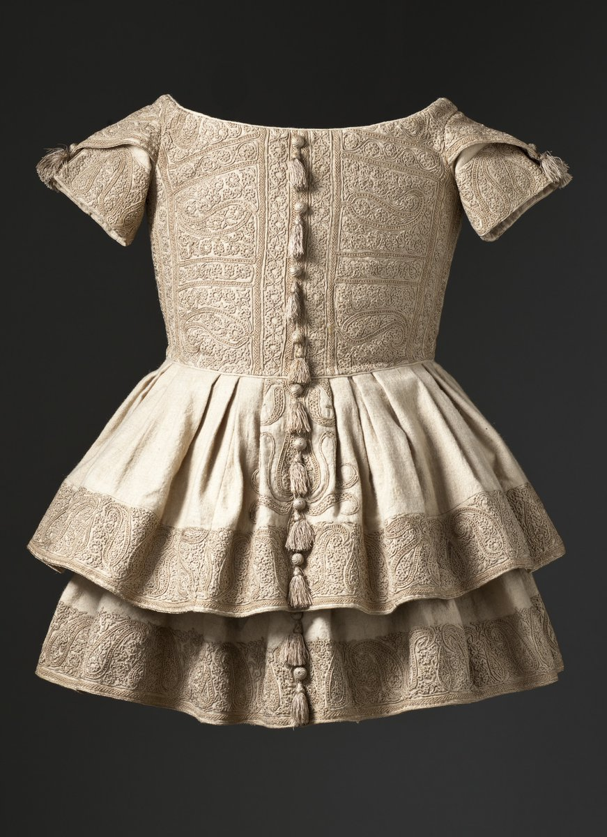 Boy's Frock Kashmir 19th C  - elaborately embroidered boy's frock from the Kashmir
