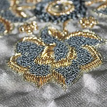 Closeup of Zardozi embroidery.