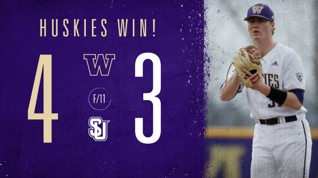 test Twitter Media - Recap: Dawgs find a way to win in extras and clinch series over Seattle U!  ⚾️ Braiden Ward homers, extends on-base streak, Pac-12 SB lead  ⚾️ Gabe Smith and Dylan Lamb with big relief performances  📰: https://t.co/iyeSO8Qdu5  #DaWgStrong /// #GoHuskies https://t.co/OYN18KkjUM