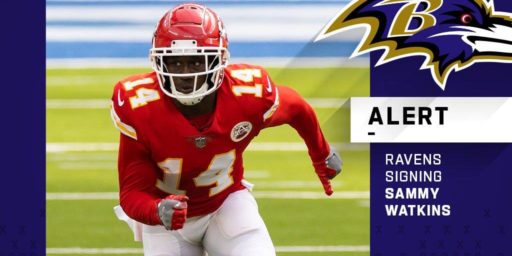 "NFL on Twitter: ""Ravens, WR Sammy Watkins agree to one-year, $6 million  deal. (via @RapSheet)… """