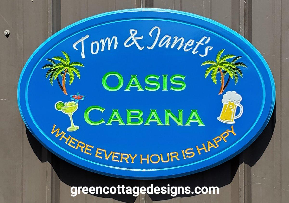 backyard oasis signs personalized