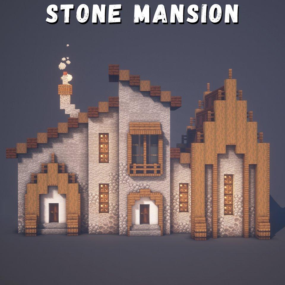 Minecraft Fr A Twitter Une Idee Cool De Design Pour Une Maison En Pierre Dans Minecraft Minecraftbuilds Https T Co Gmr6jffcl5