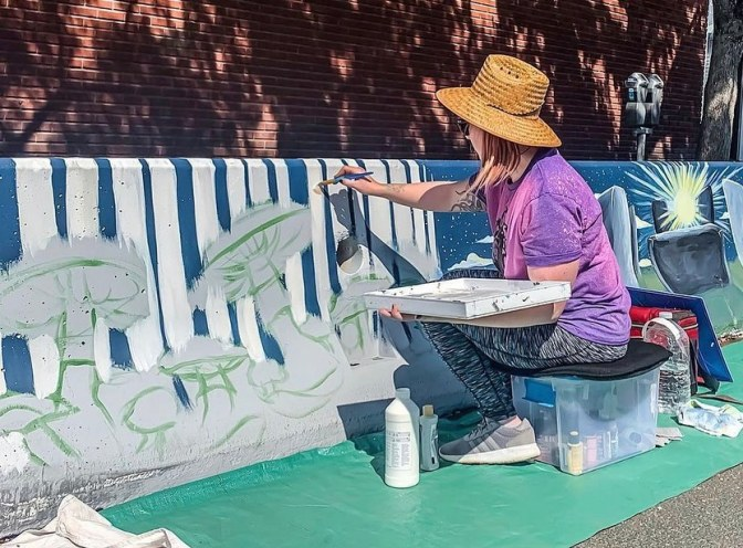 "Check out all the Artists &  inspiration behind the ""Echoes of Our Ancestors"" al fresco murals in front of neighborhood restaurants in @SoFAdistrict here: https://t.co/w922qlszII  Thank you @CityofSanJose @SJ_Downtown @KaleidGallery 💓"