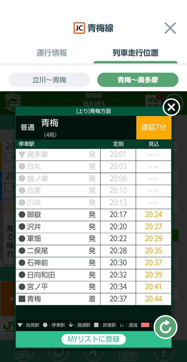 test ツイッターメディア - 沢井駅で列車交換できなくなった影響で、青梅線上りの青梅行きにも遅れが拡大。 #青梅線 #沢井駅 #青梅市 #東京アドベンチャーライン https://t.co/EIXNr1FOgO