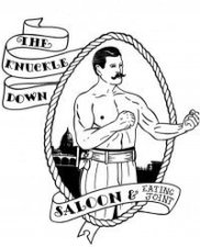 Image result for knuckle down saloon logo
