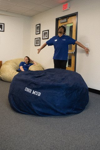 Image result for bean bag room mub unh