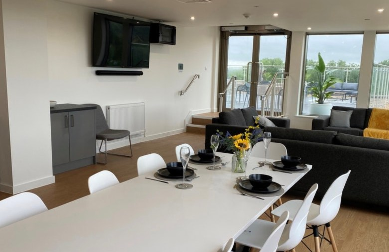 Lounge and dining area, The Oaks PBSA