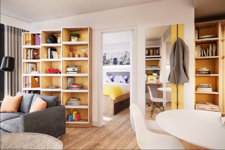 IconInc student apartment, bedroom and study at Gravity - The Park Lane Group | PBSA News