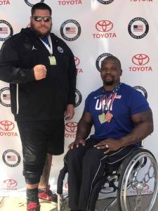 Johnnie Williams at Paralympics track & field National Championship