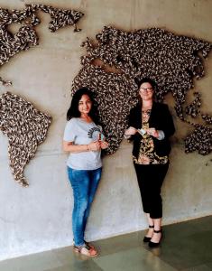 Kahini Sheth and Brandy Semore at iCreate women in STEM.