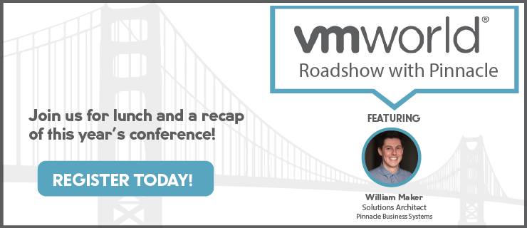 Pinnacle's VMworld Roadshow registration image