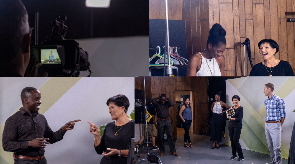 Behind the scene pictures