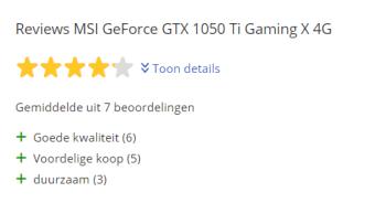 De MSI GeForce GTX 1050 TI Gaming X 4GB