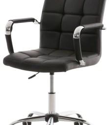 Clp Comfortabele bureaustoel DELI V2 conferentiestoel, vergaderstoel - hoge rugleuning, kunstleer - zwart