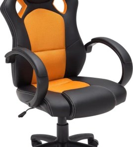 Clp Gaming-stoel - Racing bureaustoel FIRE - Sport seat Racer design - oranje