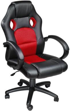 Luxe design racing - Bureaustoel - Rood/zwart