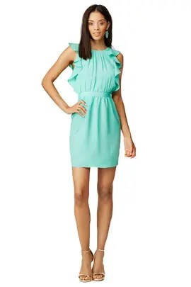 Shoshanna Aquamarine Katrina Dress
