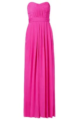 Badgley Mischka Fluorescent Chiffon Gown