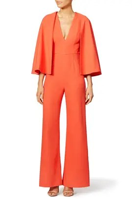 fa06994e5927 Alexis Red Amadeo Revolve Cape Jumpsuit ...