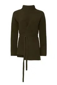 VINCE. - Wool Tie Front Tunic