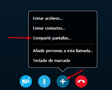 compartir pantalla en Skype