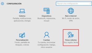 sincronizar reloj con internet windows 10