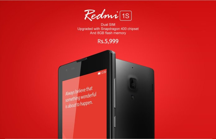 Xiaomi Redmi 1S goes on sale today at 2 PM on Flipkart for INR 5999