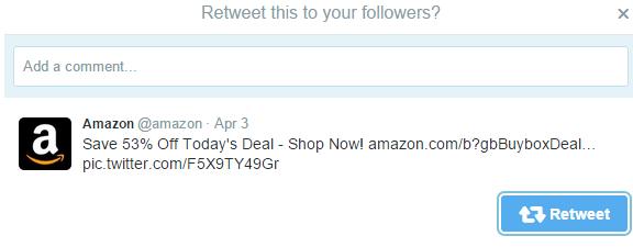 Amazon Retweet