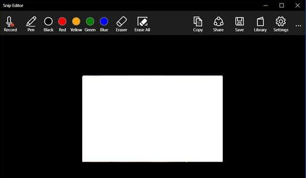 Microsoft Snip Editor main windows 2