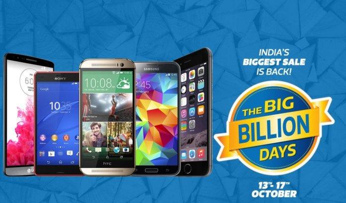 Flipkart Big Billion Days Sale Deals for Smartphones