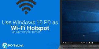 se Windows 10 PC as Wi-Fi Hotspot