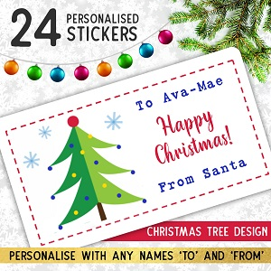 Personalised Christmas Tree Stickers