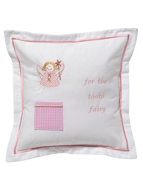 tooth fairy pillow cover funky fairy pink dg131 fufpk