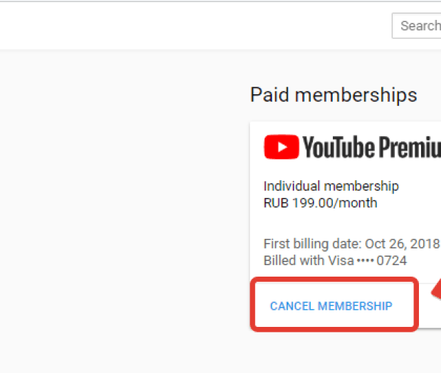 How To Cancel Youtube Premium Red Subscription