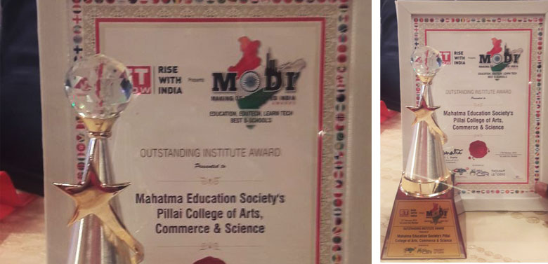 The biggest Award of all times on purely merit - PCACS bags the Prestigious ET Award for Outstanding Institute.