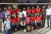 PCACS Boys Volleyball Team with the Gold medal