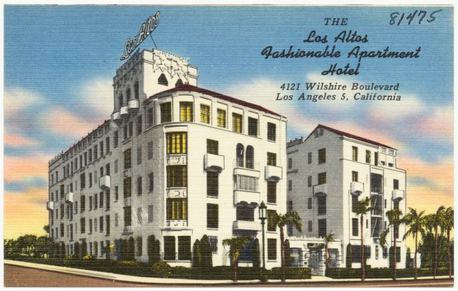 Click To Open Gallery Postcard View Of The Los Altos Apartment