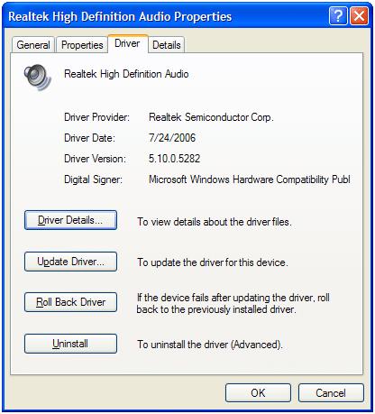 hilang audio komputer