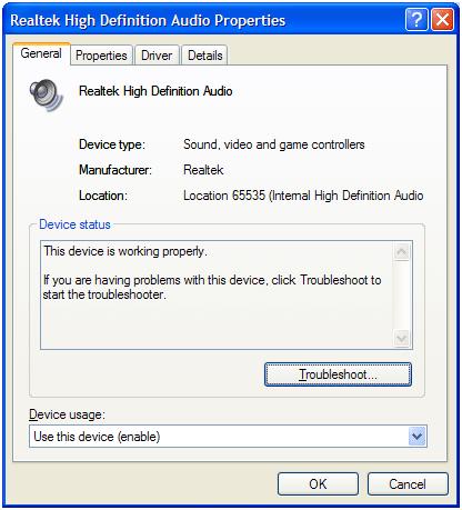 suara komputer hilang