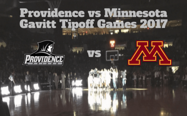 Game Notes & Preview: Providence (1-0) vs (14) Minnesota (1-0) 11/13/17