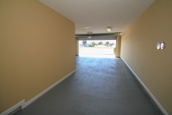 40' deep garage offers plenty of room for parking and storage.